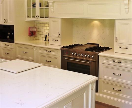 Carrara Quartz Kitchen Countertops